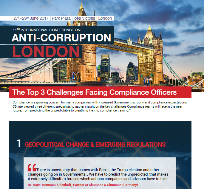 Challenges Chief Compliance Officers Are Facing In 2017