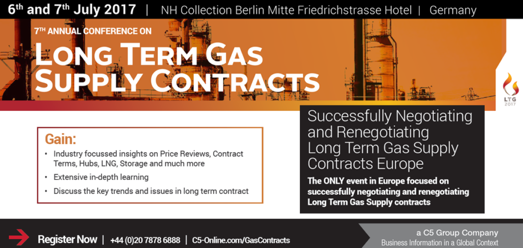 Long Term Gas Supply Contracts Conference C5 Berlin